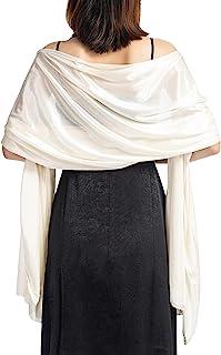 Petalum Elegant Braut Schal Stola Schal für Kleider, Hochzeit Party Retro Umschlagtücher Leicht Weich Schal Wraps