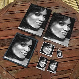 Rosario Dawson - Original Art Gift Set #js001 (Includes - A4 Canvas - A4 Print - Coaster - Fridge Magnet - Keyring - Mouse Mat - Sketch Card)