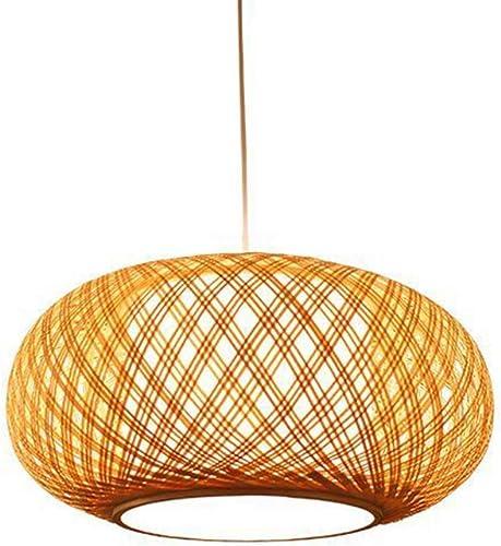 AZCX Lampes artistiques en Bambou, Lustre créatif en Bambou Fait à la Main, Salon de thé Pastoral, atténuation Intelligente de la moisissure et de l'humidité,40X20CM