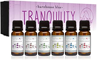 Tranquility Premium Grade Fragrance Oil Gift Set - 6/10ml Bottles - Lavender, Sandalwood, Frankincense, Euc...