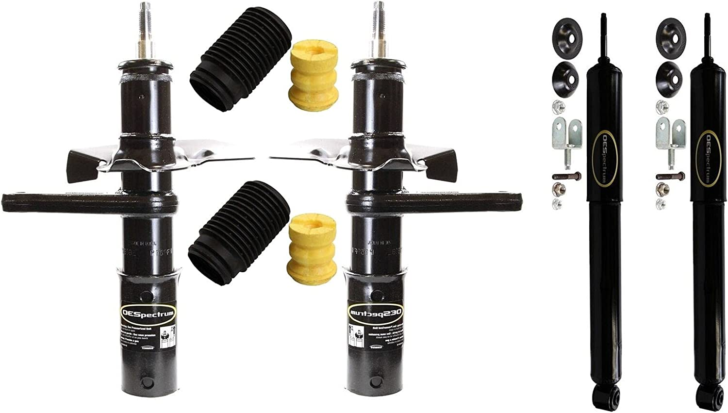 Front and Rear Suspension Strut Assembly Shock Super Oklahoma City Mall beauty product restock quality top Absorber Kit