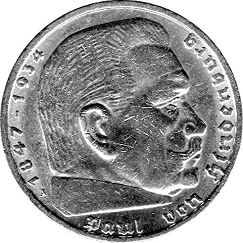 Münzen 5 Reichsmark Deutschland, 1938 A, Hindenburg (Jäger: 367) Vorzüglich