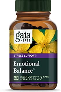 Gaia Herbs Emotional Balance Liquid Capsules, Plant-Based Mood Support Supplement, Promotes A Positive Mood with St. John'...