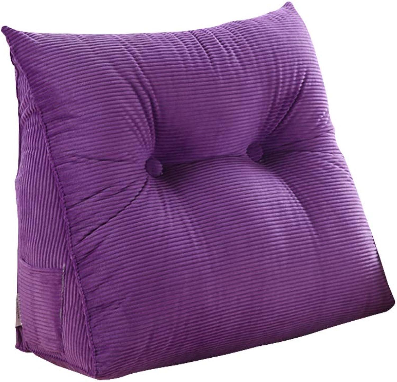 DUHUI Keil für Wohn- und Schlafzimmer, Entspannungskissen, Tragekissen, lexible Rückenlehne, Schwangerschaftskissen, Stillkissen zum Liegen und Sitzen, 60x20x50CM (Farbe   lila)