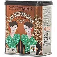 Las Hermanas Pimentón de la Vera D.O.P Picante Ahumado - geräuchertes scharfes Paprikapulver, 1er Pack (1 x 70 g)