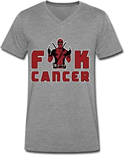 Casual Cool Fuck Cancer V-Neck Short Sleeve T-Shirts