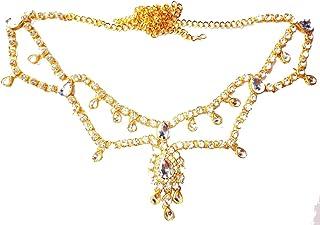 RITIH Designer & Traditional Belly Chain Pearl Gold Plated Wedding Jewellery Kamarband for Women and Girls Kamar Dhaniya