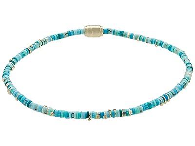 Kendra Scott Reece Wrap Bracelet (Gold Sea Green Mix) Bracelet