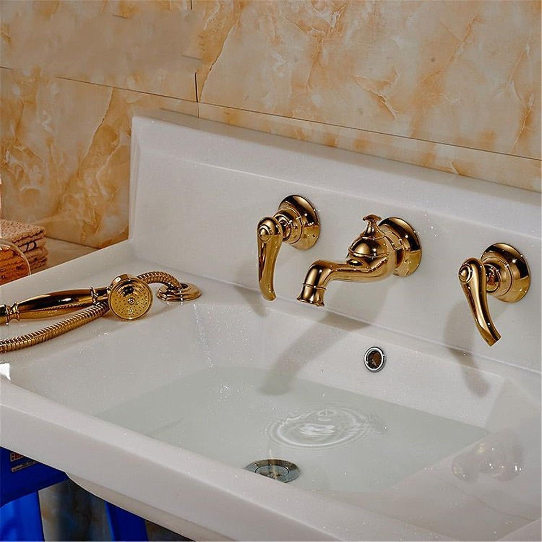 DOJOF Bathroom Sink Faucet Basin Mixer Tap Antique in-Wall Bathtub Hot and Cold Water Basin Sink Tap Bathroom Bar Faucet