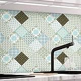 KINLO Papier Peint de carrelage Auto-adhésif, 61 x 500 cm PVC Style Moderne Stickers Autocollant Muraux Étanche Décoration pour Armoire de Cuisine en pour Salle de Bain et Cuisine(Type-E)