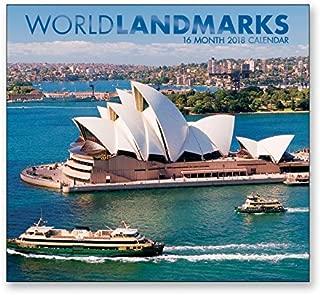 16 Month Wall Calendar 2018 - World Landmarks - Each Month Displays Full-Color Photograph. September 2017 - December 2018 Planning Calendar