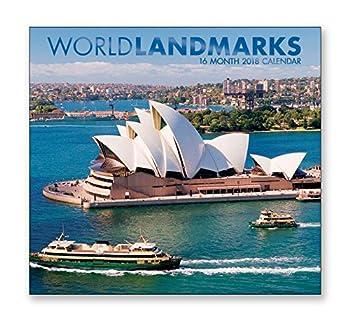 16 Month Wall Calendar 2018 - World Landmarks - Each Month Displays Full-Color Photograph September 2017 - December 2018 Planning Calendar