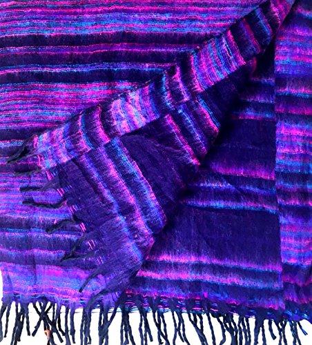 Fair Trade Tibetaanse Yak wol wollen sjaal/deken 1.8M x 0.8M