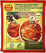 Malaysia Best Brand/Baba's Hot & Spicy Fish Curry Powder/Made From Pure & Finest Spices/Vege Origin/MSG Free Recipe/125g