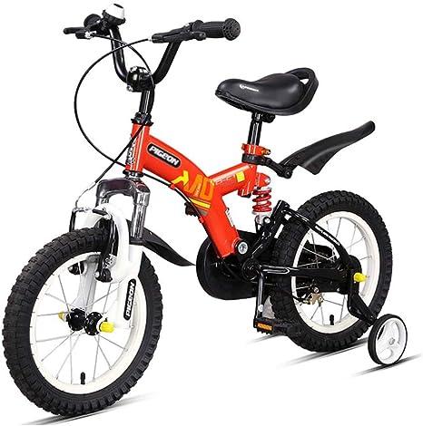 Bicicletas Para Niños 14 Y 16 Pulgadas para Niños Y Niñas Amortiguador De 3-4-5-6-8 Años Regalos para Niños: Amazon.es: Deportes y aire libre