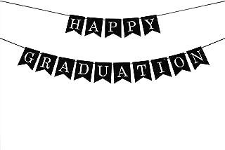 Black Happy Graduation Banner - 2020 Graduation Banner, 2020 Graduation Party/Congrats Grad Party Decorations