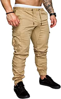 Mens Fashion Joggers Sports Pants - Cotton Cargo Pants Sweatpants Trousers Mens Long Pants