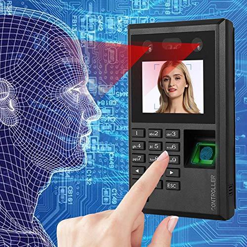 Control de Acceso multifunción, Control de Acceso de Huellas Dactilares LCD de 2.8 Pulgadas, máquina Inteligente para reconocimiento biométrico de Huellas Dactilares, contraseña y Asistencia IR