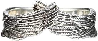 Gogdog Angel Wing Rings - Anello apribile regolabile, per uomo e donna, per matrimonio