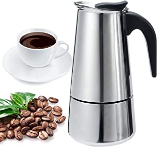 Stovetop Espresso Maker-Moka Pot: Italian Coffee Maker for Office, Home,Classic Cafe Percolator Maker(200ml/6.76oz/4 cup,e...