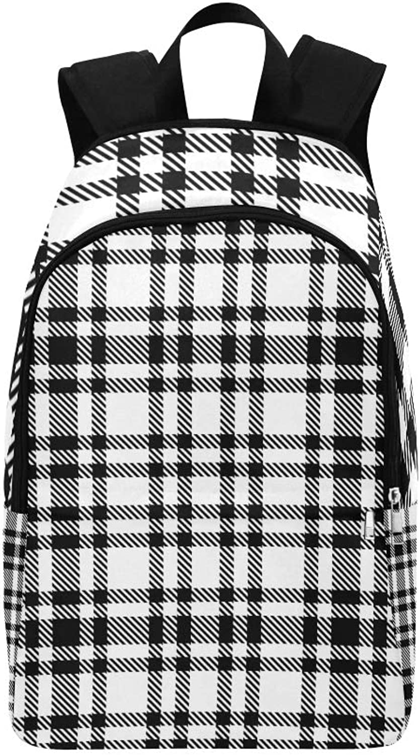 blueee Checkered Tablecloth Casual Daypack Travel Bag College School Backpack for Mens and Women