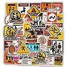 ジャション ファニー ウォーニングサイン 注意サイン ステッカー シール ステッカーセット 防水 ステッカー ブランド  お気に入りのスーツケース、ギター、車、バイク、自転車、ヘルメット、パソコン、携帯、ノート、 タブレット