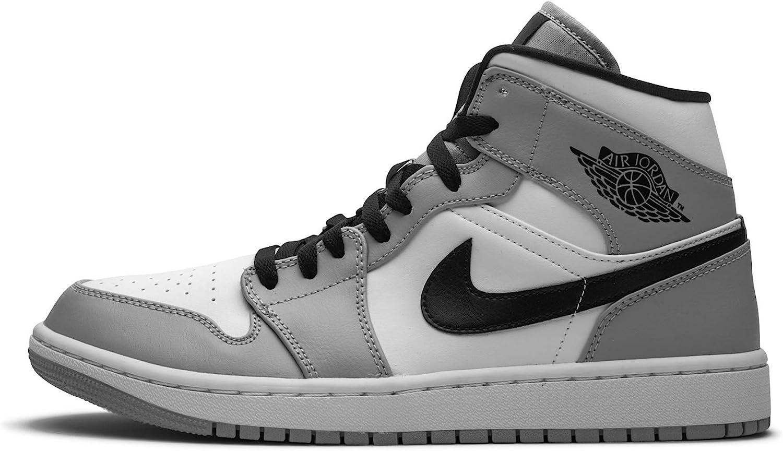 Jordan Mens Air 1 Mid Light Smoke Grey 554724 092 Size