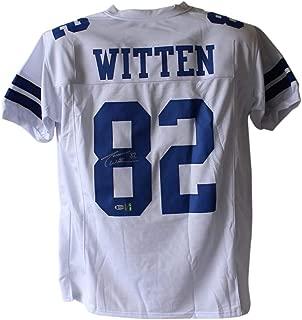 Jason Witten Autographed/Signed Dallas Cowboys White XL Jersey BAS