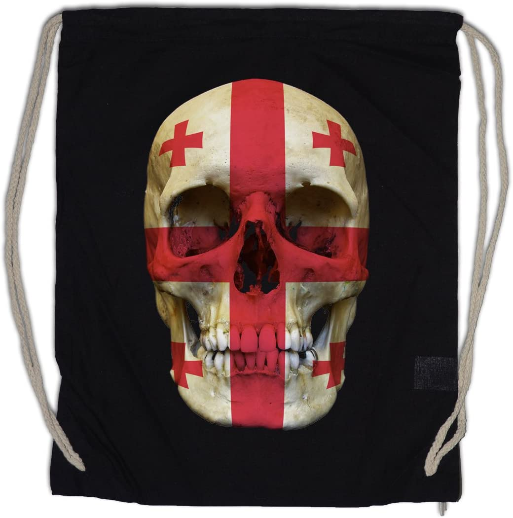 Urban Backwoods Classic Georgia Skull Gym Drawstring 25% OFF Recommended Sa Flag Bag