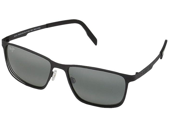 Maui Jim  Cut Mountain (Black/Neutral Grey) Fashion Sunglasses