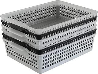 Kekow 6-Pack File Storage Basket Organizer for Office Supplies, 13.27