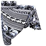 Panasiam Chang - Pantaloni Aladino in tessuto naturaledi alta qualità Ch1 in schwarz Taglia unica
