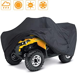 Best LotFancy All Weather Waterproof ATV Cover, Heavy Duty Black Quad Protects 4 Wheelers Outdoor Protection from Wind UV Sun Snow Rain (L 86x47x39 inches) Review