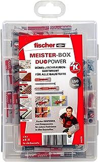 fischer Meister-BOX DUOPOWER kort / lang met schroef, voorgesorteerde pluggenbox met 150 schroeven & DUOPOWER pluggen, uni...