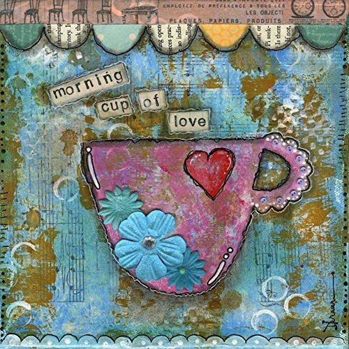 Feeling at home IMPRESION-sur-Papier-Mattina-Cup-of-Love-Braun-Denise-Nourriture-Affiche-roulée-Fine-Art- pour-cadre-Poster-pour-décoration-murale-dimensions-84_X_84_cm