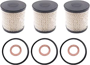 3 Packs Engine Oil Filter Kit with O-Ring 11427622446 for BMW Mini Cooper