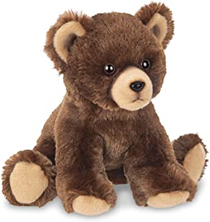 Bearington Lil' Grizby Small Plush Stuffed Animal Brown Grizzly Bear, 7 inches