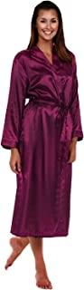 Women's Lightweight Satin Robe, Long Kimono