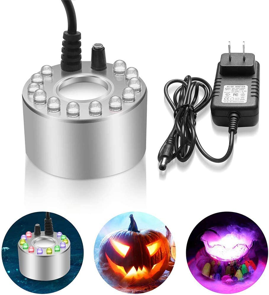 Mist Maker-Indoor NEW before selling Fountain Mister Foggers LED Limited price Changing Color 12