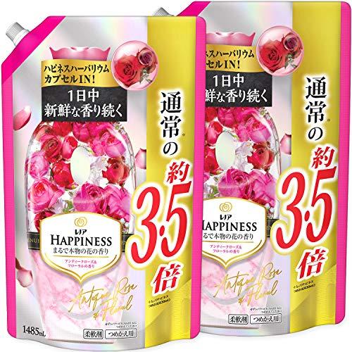 【まとめ買い】 レノアハピネス 柔軟剤 アンティークローズ&フローラル 詰め替え 超特大 1485mL × 2個