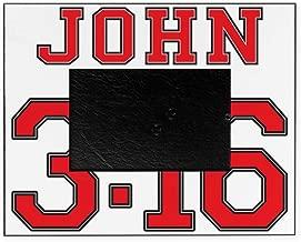 CafePress John 3:16 Jersey Style Decorative 8x10 Picture Frame