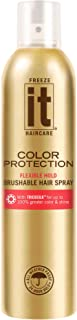 IT Haircare Freeze Color Protection Flexible Hold Brushable Hair Spray | 7.75 Oz | Infused with Tricosilk for up to 100% Greater Color & Shine | Strongest Hold in ALL Weather | UV Protectant