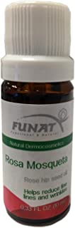 Funat Aceite de Rosa Mosqueta Rose Hip Seed Oil for Face and Skin Wrinkles 10 ml