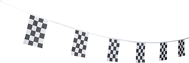Kind Girl Checkered Flag Racing Flag, Black & White Checkered Flag Racing Pennant Banner Flags,Decorations Supplies for Racing,Race Car Party,Sport Events,Kids Birthday,Celebrations,World Cup Matches