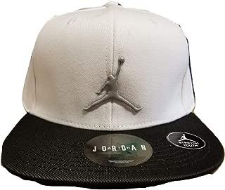 Youth Air Jordan Reflective Brim White Snapback Cap