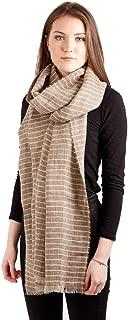 Lightweight Shawl Striped Linen 20 ½ Inches x 98 ½ Inches Irish Made