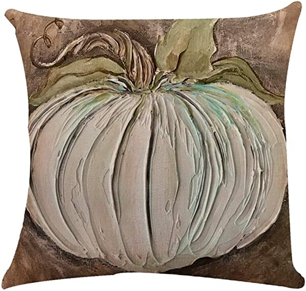 Libobo Halloween Pumpkin Cushion Cover Square Pillow Case Thanksgiving Day Decor Sanw E