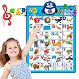 Electronic Interactive Alphabet Wall Chart, Toddler Learning Activities for Kids Ages 2-4 Best Educational Birthday Gifts Toys for 3 Year Old Boys Girls Preschool Educational Games for Kids 1-5 yr Old