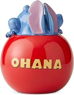 Enesco Disney Ceramics Lilo and Stitch Ohana Cookie Jar Canister, 10 Inch, Multicolor