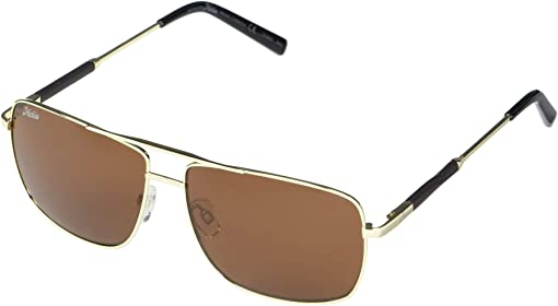 Shiny Gold Frame/Copper Polarized PC Lens